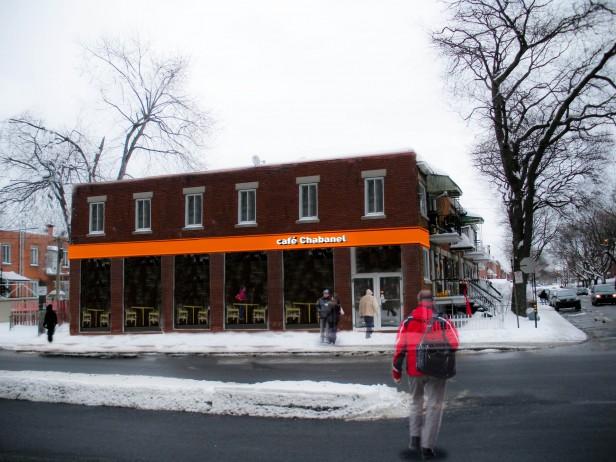 facade cafe chabanel